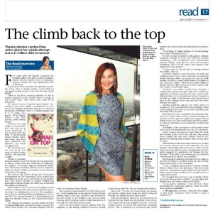The Sunday Times feature of Woman On Top by Dr Loretta Chen (another satisfied client)